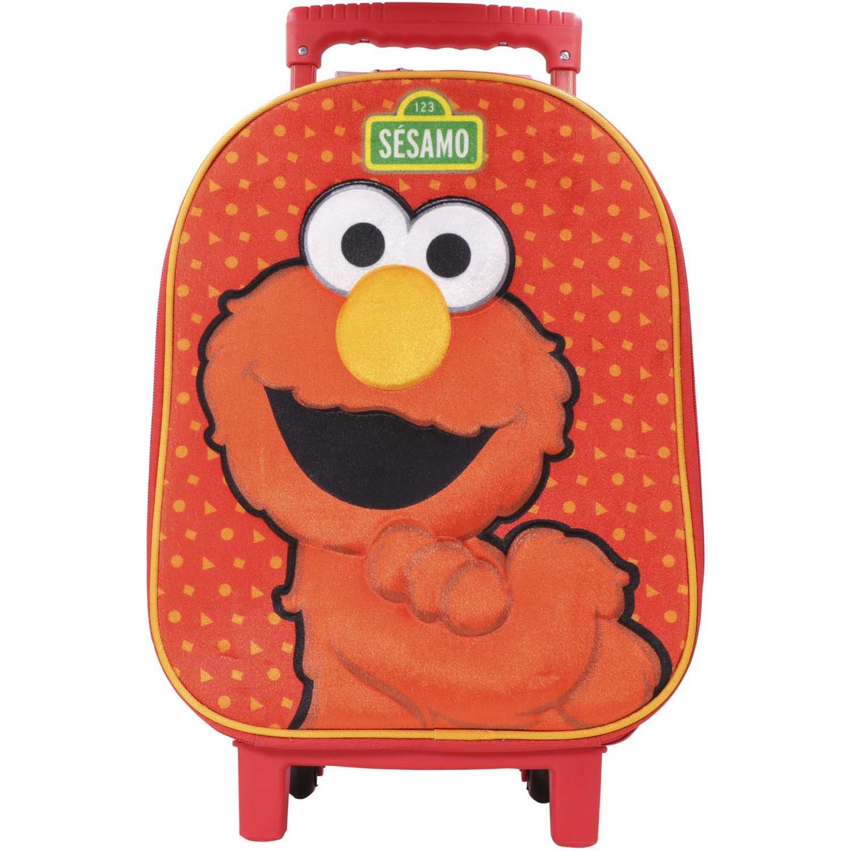 Mochila con ruedas de Niño Sesamo Rojo maleta con ruedas sesamo