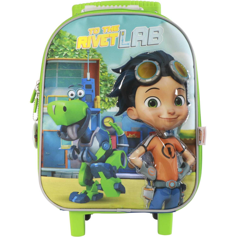 Mochila con ruedas de Niño Rusty Rivets Azul / verde maleta con ruedas rusty rivets