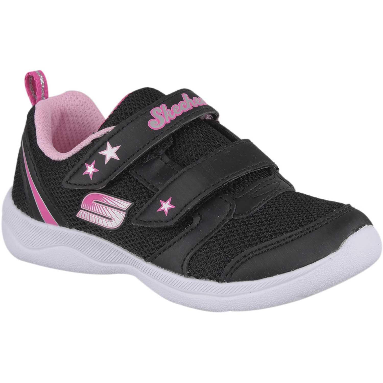 Zapatilla de Niña Skechers Negro / rosado skech-stepz 2.0