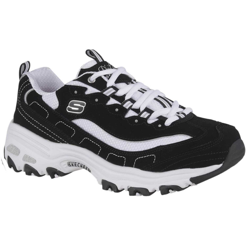 Zapatilla de Mujer Skechers Negro / blanco d'lites