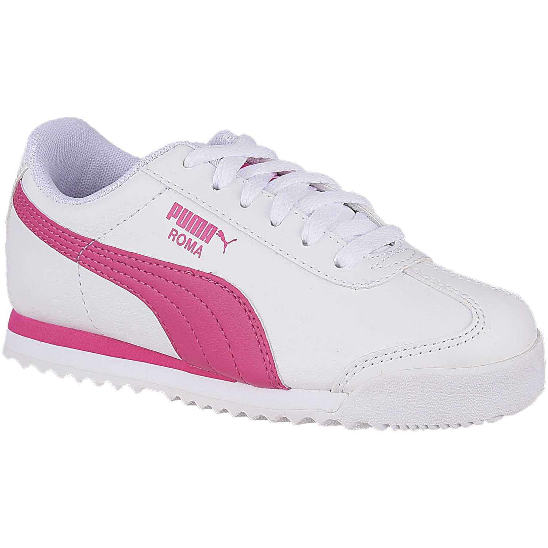 Zapatilla de Niña Puma Blanco / rosado roma basic ps