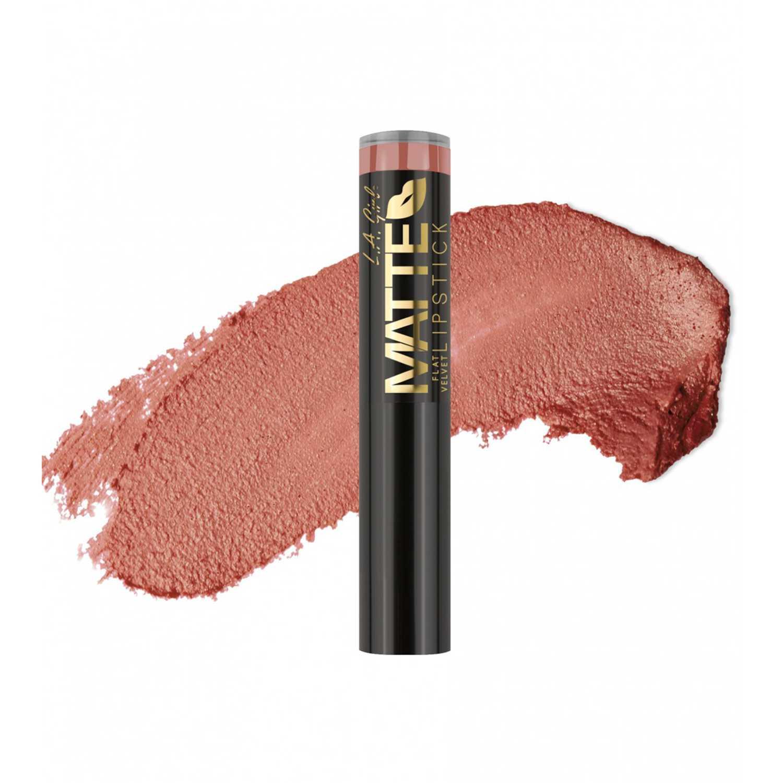 Lapiz Labial Barra de Mujer L.a. Girl Snuggle labial matte flat velvet lipstick