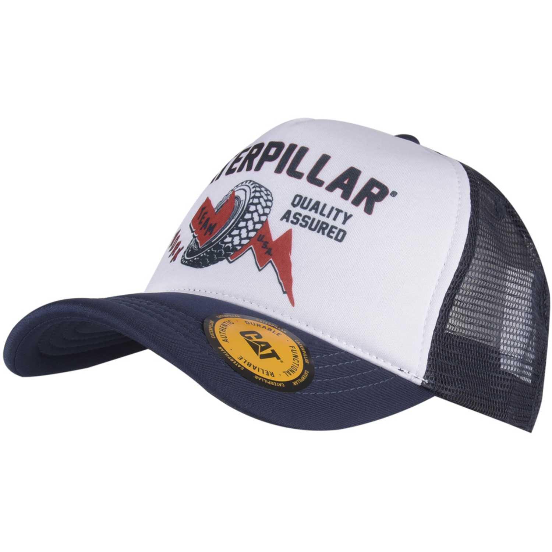 Gorro de Hombre CAT Navy / Blanco round up trucker cap
