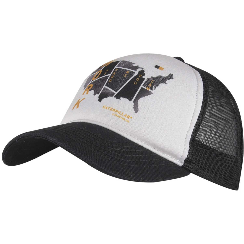 Gorro de Hombre CAT Negro / blanco graphics hat