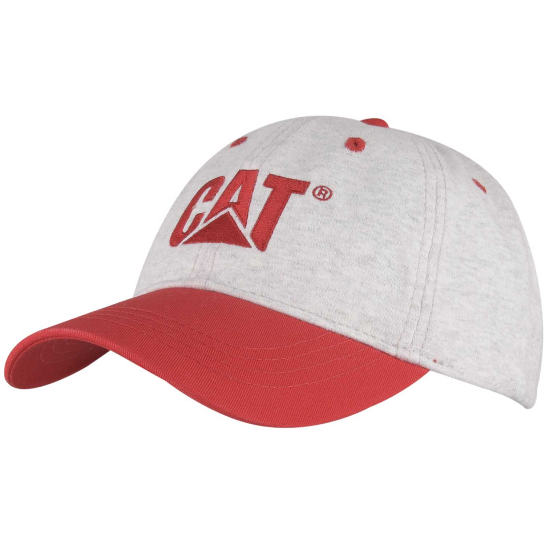 Gorro de Hombre CAT Gris / rojo light heather