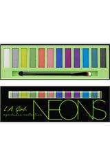 L.a. Girl Neon de Mujer modelo paleta de sombras beauty brick eyeshadow collectio Sombras
