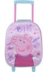 Peppa Pig Rosado de Mujer modelo maleta con ruedas peppa pig Maletínes Mochilas