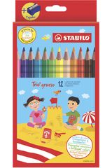 Colores de  Stabilo Varios sta trio grueso caja x 12