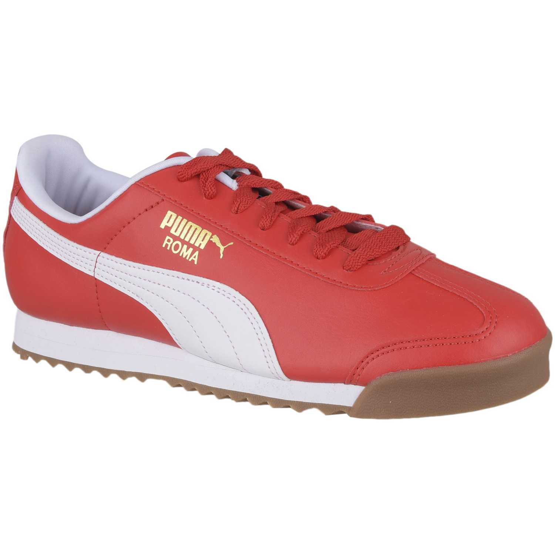 Zapatilla de Hombre Puma Rojo roma basic
