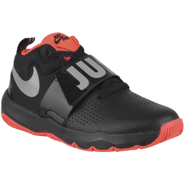 Zapatilla de Jovencito Nike Negro / rojo team hustle d 8 jdi bg