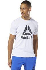 Reebok Blanco / negro de Hombre modelo wor graphic tech tee Polos Deportivo