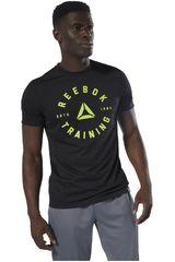 Polo de Hombre Reebok Negro / verde gs training speedwick tee