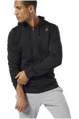 Reebok Negro de Hombre modelo wor mel dbl kn fz hoodie Deportivo Casacas
