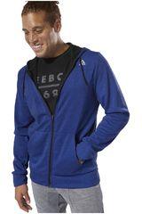 Reebok Azul de Hombre modelo wor mel dbl kn fz hoodie Casacas Deportivo