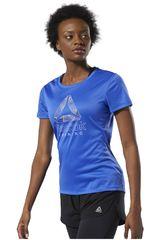 Reebok Azul de Mujer modelo re delta graphic tee Deportivo Polos