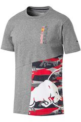 Puma Gris / rojo de Hombre modelo rbr double bull tee Deportivo Polos