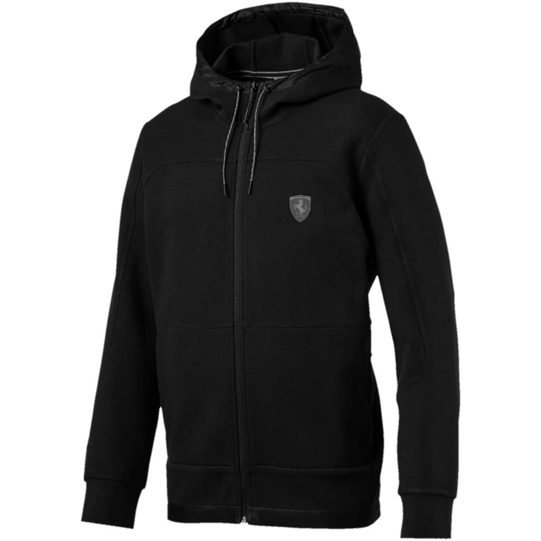 Casaca de Hombre Puma Negro ferrari hooded sweat jacket