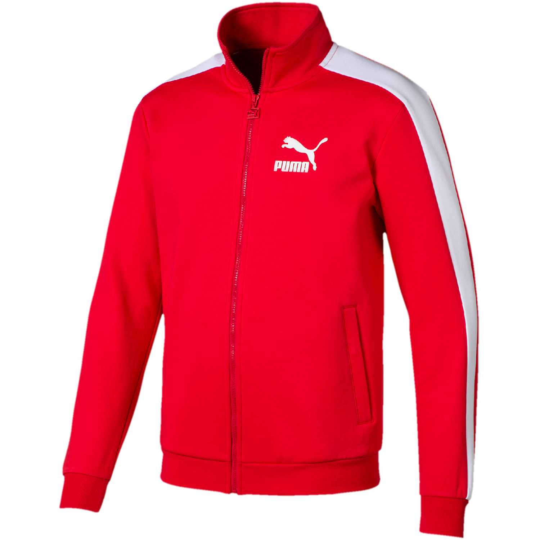Casaca de Hombre Puma Rojo iconic t7 track jacket dk