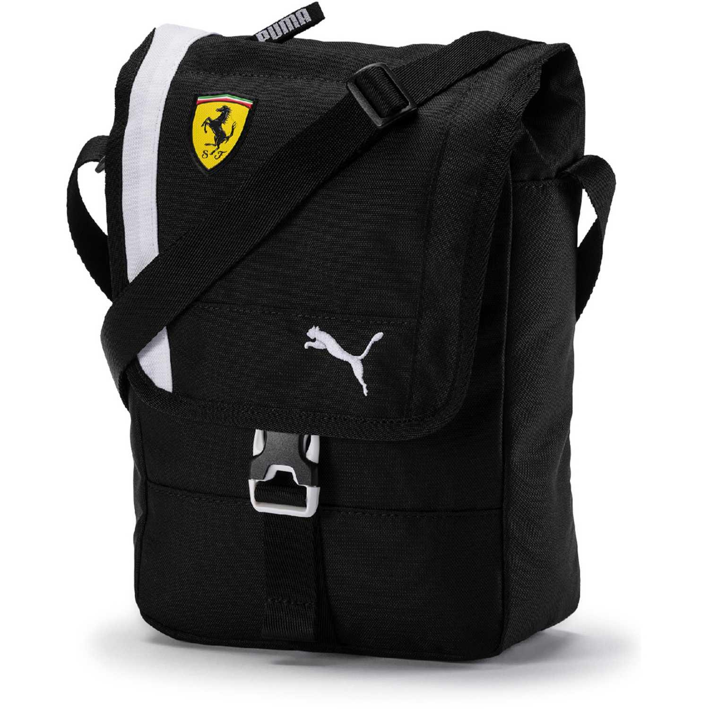 Morral de Hombre Puma Negro / blanco sf fanwear portable