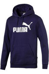 Polera de Hombre Puma Azul / blanco ess hoody fl big logo