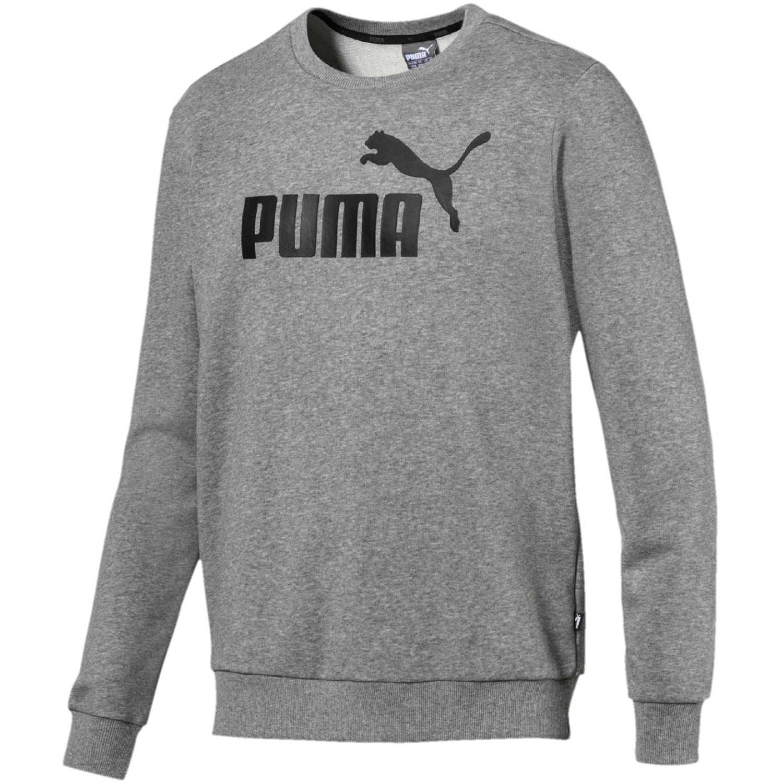 4219e8559 Polera de Hombre Puma Gris / negro ess logo crew sweat tr big logo ...