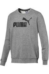 Puma Gris / negro de Hombre modelo ess logo crew sweat tr big logo Deportivo Poleras