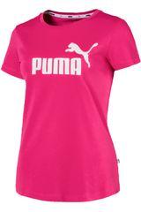 Puma Fucsia / blanco de Mujer modelo ess logo tee Polos Deportivo