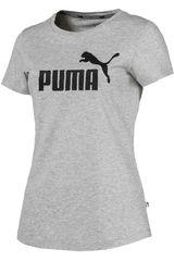 Puma Gris / negro de Mujer modelo ess logo tee Polos Deportivo