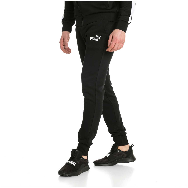 aeb4bca98 Pantalón de Hombre Puma Negro / blanco ess logo pants fl cl ...