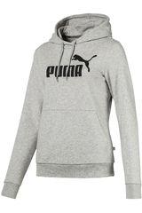 Puma Gris / negro de Mujer modelo ess logo hoody tr Deportivo Poleras
