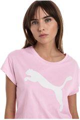 Puma Rosado / blanco de Mujer modelo active logo tee Polos Deportivo