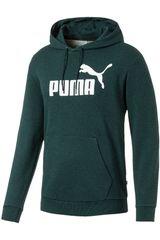 Puma Verde / blanco de Hombre modelo ess+ hoody tr Deportivo Poleras