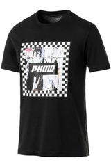 Puma Negro / blanco de Hombre modelo check graphic tee Deportivo Polos