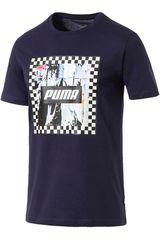 Puma Azul / blanco de Hombre modelo check graphic tee Polos Deportivo