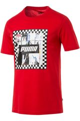 Puma Rojo / blanco de Hombre modelo check graphic tee Deportivo Polos