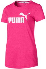 Puma Fucsia / blanco de Mujer modelo ess+ logo heather tee Polos Deportivo