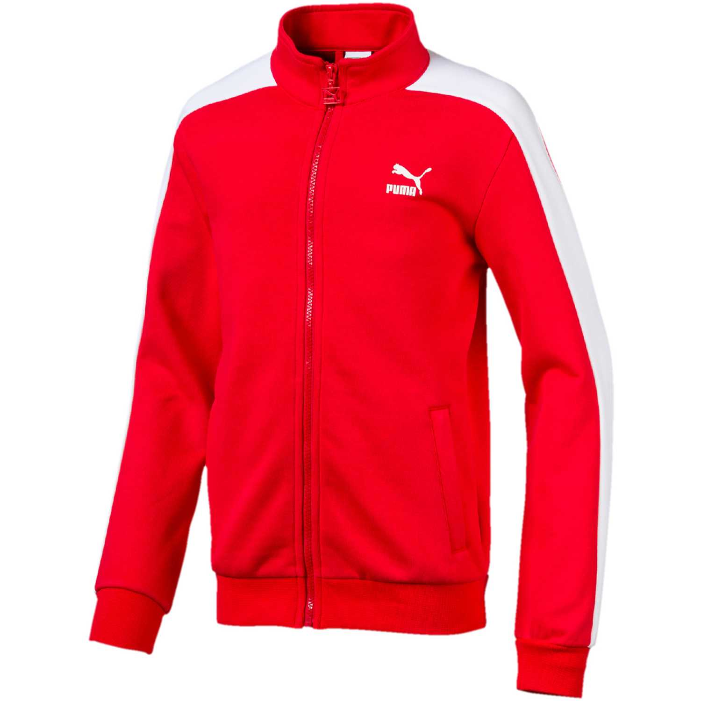 49279b2e2 Casaca de Hombre Puma Rojo classics t7 track jacket b   platanitos.com