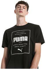 Puma Negro / blanco de Hombre modelo box puma tee Deportivo Polos