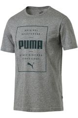 Puma Gris / negro de Hombre modelo box puma tee Deportivo Polos