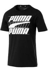 Polo de Hombre Puma Negro / blanco rebel basic tee