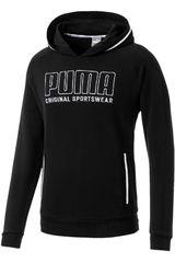 Puma Negro / blanco de Hombre modelo athletics hoody tr Deportivo Poleras