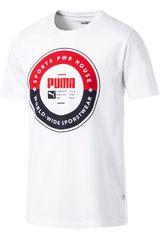 Puma Blanco / rojo de Hombre modelo puma sp execution tee Deportivo Polos