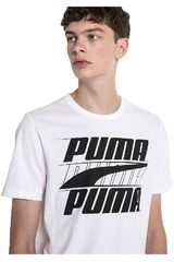 Puma Blanco / negro de Hombre modelo rebel basic tee Deportivo Polos