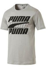 Polo de Hombre Puma Gris / negro rebel basic tee