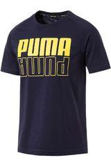 Polo de Hombre Puma Azul / amarillo modern sports logo tee