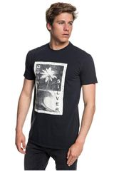 Polo de Hombre Quiksilver Negro / blanco destroyed reality
