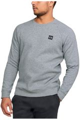 Polera de Hombre Under Armour Gris / negro rival fleece crew-gry