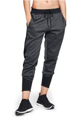 Under Armour Plomo / negro de Mujer modelo synthetic fleece jogger pant-blk Deportivo Pantalones