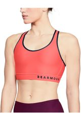 Under Armour Coral / azul de Mujer modelo armour mid keyhole bra-org Tops Deportivo