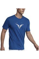 Nike Azul / blanco de Hombre modelo rafa m nkct tee Polos Deportivo